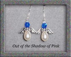 Guardian Angel Birthstone Earrings - Sapphire  (click to enlarge)