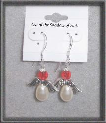 Guardian Angel Birthstone Earrings - Light Siam  (click to enlarge)